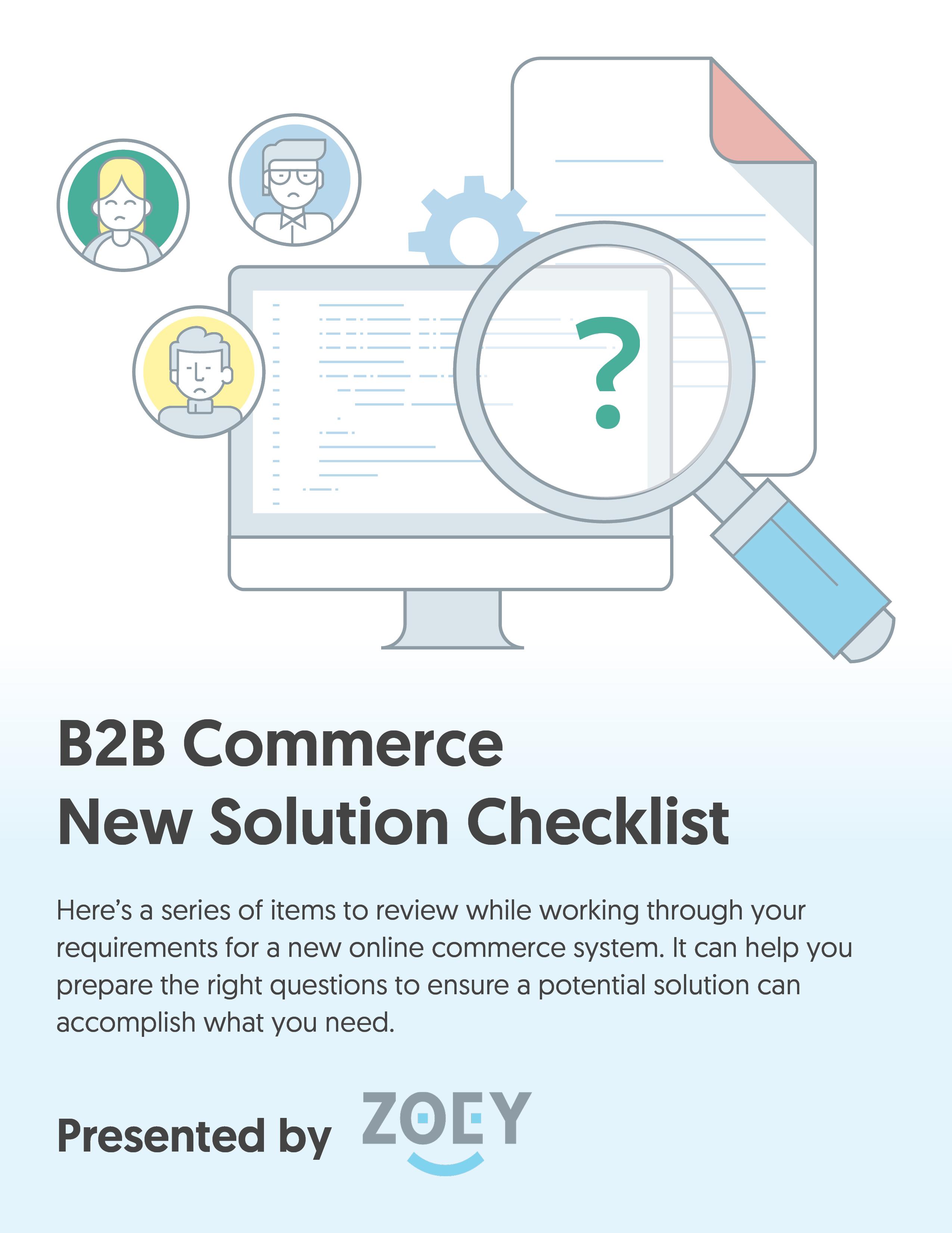 B2B eCommerce Checklist 2020 Rebrand